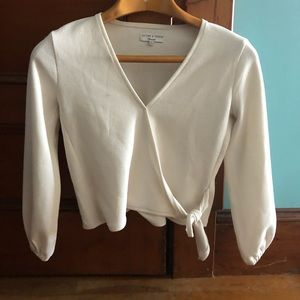 Madewell Texture & Thread Tie Top Small